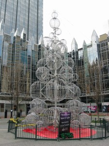 Market Square Lighted Sphere Xmas Tree