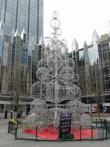 Market Square Lighted Sphere Xmas Tree