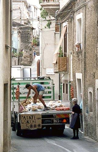 Vendors still go door-to-door in Civita , Calabria Italy. Photo Courtesy: About.com