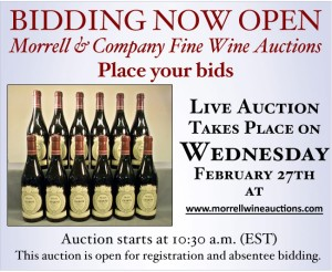 All Materials Courtesy of Morrell & Company Fine Wine Auction