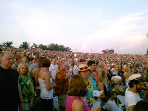 Crowd on Lawn at Jimmy Buffett Show