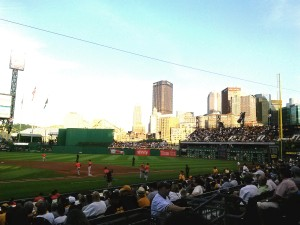 Downtown Pittsburgh from PNC Park Home of Pirate Baseball