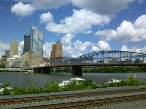 Downtown Pittsburgh from Station Square