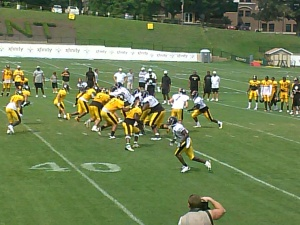 Steeler Training Camp St Vincent College, Latrobe, Pa