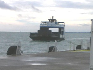 The Miller Ferry arrives at Put-In-Bay from Port Clinton