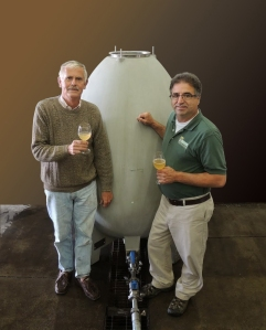 "Gene Pierce & Steve DiFrancesco with ""The Egg"" Courtesy: G.W."