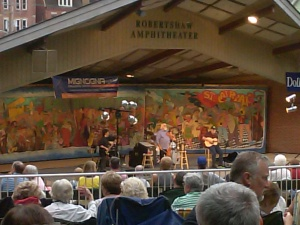 Beausoleil on stage at SummerSounds in Greensburg, Pa