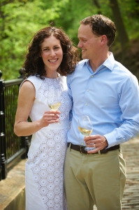 James and Rebecca McCeney celebrate Bridges Wine Co.