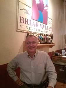 Tod Manspeaker co-owner of Briar Valley Vineyards & Winery