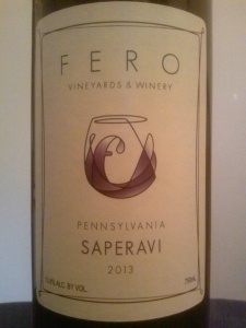 Fero Vineyards &Winery Saperavi 2013