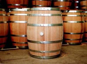 New Oak Wine Barrel